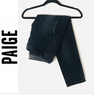 Paige Dark Rinse Ankle Cropped Skinny Jeans